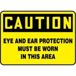 """Accuform MPPA658XF10, 10″ x 14″ OSHA Safety Sign """"Eye And Ear …"""""""