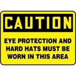 "Accuform MPPA659XP10, 10″ x 14″ OSHA Safety Sign ""Eye Protection …"""
