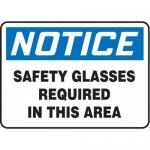 "Accuform MPPA801XV10, 10″ x 14″ OSHA Safety Sign ""Safety Glasses …"""