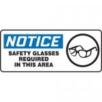 "Accuform MPPA807XV10, 7″ x 17″ OSHA Safety Sign ""Safety Glasses …"""