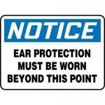 "Accuform MPPA809XF10, 10″ x 14″ OSHA Safety Sign ""Ear Protection …"""