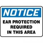 "Accuform MPPA810XF10, 10″ x 14″ OSHA Safety Sign ""Ear Protection …"""