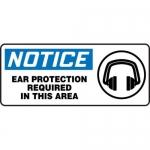 "Accuform MPPA811XF10, 7″ x 17″ OSHA Safety Sign ""Ear Protection …"""