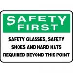 "Accuform MPPA904XV10, 10″ x 14″ OSHA Safety Sign ""Safety Glasses"""