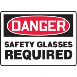 """Accuform MPPE002XV10, 7″ x 10″ Safety Sign """"Safety Glasses Required"""""""