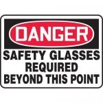 "Accuform MPPE014XV10, 10″ x 14″ OSHA Safety Sign ""Safety Glasses …"""