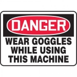 "Accuform MPPE026XF10, 10″ x 14″ OSHA Safety Sign ""Wear Goggles …"""