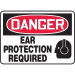 """Accuform MPPE032XF10, 10″ x 14″ OSHA Safety Sign """"Ear Protection …"""""""
