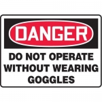 """Accuform MPPE040XF10, 10″ x 14″ OSHA Safety Sign """"Do Not Operate …"""""""