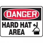 """Accuform MPPE061XP10, 7″ x 10″ OSHA Danger Safety Sign """"Hard Hat Area"""""""