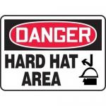 "Accuform MPPE062XP10, 10″ x 14″ OSHA Safety Sign ""Hard Hat Area"""