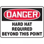"""Accuform MPPE066XP10, 10″ x 14″ Safety Sign """"Hard Hat Required …"""""""