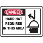 """Accuform MPPE074XP10, 10″ x 14″ Safety Sign """"Hard Hat Required …"""""""