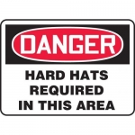 """Accuform MPPE087XP10, 14″ x 20″ Safety Sign """"Hard Hats Required …"""""""