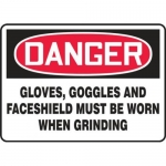 """Accuform MPPE092XP, 10″ x 14″ OSHA Safety Sign """"Gloves"""""""