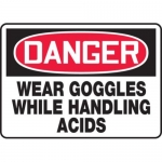 "Accuform MPPE103XF10, 10″ x 14″ OSHA Safety Sign ""Wear Goggles …"""