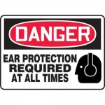"""Accuform MPPE106XF10, 10″ x 14″ Safety Sign """"Ear Protection Required"""""""