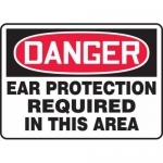 """Accuform MPPE108XF10, 10″ x 14″ OSHA Safety Sign """"Ear Protection …"""""""