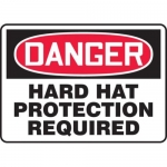"""Accuform MPPE117XP10, 10″ x 14″ Safety Sign """"Hard Hat Protection …"""""""