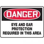 "Accuform MPPE131XF10, 10″ x 14″ OSHA Safety Sign ""Eye And Ear …"""