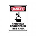 "Accuform MPPE137XP10, 14″ x 10″ OSHA Safety Sign ""Hard Hat …"""