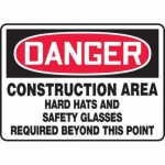 """Accuform MPPE140XL10, 10″ x 14″ Safety Sign """"Construction Area …"""""""