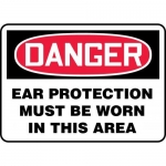 """Accuform MPPE143XF10, 7″ x 10″ Safety Sign """"Ear Protection Must …"""""""