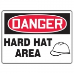 """Accuform MPPE149XP10, 7″ x 10″ OSHA Danger Safety Sign """"Hard Hat Area"""""""