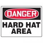 "Accuform MPPE152XF10, 18″ x 24″ OSHA Safety Sign ""Hard Hat Area"""