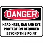 "Accuform MPPE153XP10, 7″ x 10″ OSHA Danger Safety Sign ""Hard Hats"""