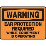 """Accuform MPPE310XF10, 10″ x 14″ OSHA Safety Sign """"Ear Protection …"""""""