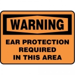"""Accuform MPPE312XF10, 7″ x 10″ OSHA Safety Sign """"Ear Protection …"""""""