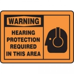 """Accuform MPPE323XV10, 7″ x 10″ Safety Sign """"Hearing Protection …"""""""