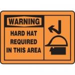 "Accuform MPPE324XP10, 10″ x 14″ OSHA Safety Sign ""Hard Hat …"""