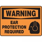"""Accuform MPPE327XF10, 7″ x 10″ OSHA Safety Sign """"Ear Protection …"""""""