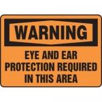 "Accuform MPPE331XF10, 7″ x 10″ OSHA Safety Sign ""Eye And Ear …"""