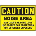 "Accuform MPPE402VS10, 7″ x 10″ OSHA Safety Sign ""Noise Area"""