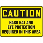 """Accuform MPPE415XP10, 10″ x 14″ OSHA Safety Sign """"Hard Hat And …"""""""