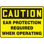 """Accuform MPPE430XF10, 10″ x 14″ OSHA Safety Sign """"Ear Protection …"""""""