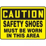 """Accuform MPPE433XV10, 7″ x 10″ OSHA Safety Sign """"Safety Shoes …"""""""
