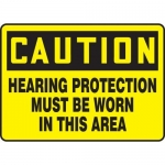 """Accuform MPPE434XF10, 7″ x 10″ OSHA Safety Sign """"Ear Protection …"""""""
