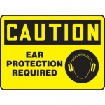 """Accuform MPPE435XF10, 10″ x 14″ Safety Sign """"Ear Protection Required"""""""