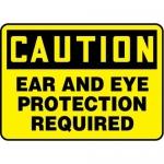 "Accuform MPPE436XF10, 7″ x 10″ OSHA Safety Sign ""Ear And Eye …"""