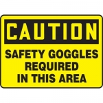 """Accuform MPPE449XF10, 7″ x 10″ Safety Sign """"Safety Goggles …"""""""