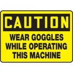 """Accuform MPPE450XF10, 7″ x 10″ Safety Sign """"Wear Goggles …"""""""