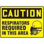 "Accuform MPPE465XF10, 7″ x 10″ Safety Sign ""Respirators Required …"""
