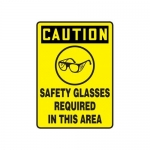 """Accuform MPPE466XV10, 10″ x 7″ Safety Sign """"Safety Glasses …"""""""
