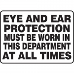 """Accuform MPPE510XF10, 10″ x 14″ Safety Sign """"Eye and Ear …"""""""