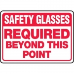 """Accuform MPPE535XV10, 10″ x 14″ PPE Safety Sign """"Safety Glasses …"""""""