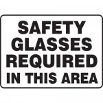 """Accuform MPPE540XV10, 10″ x 14″ Safety Sign """"Safety Glasses …"""""""